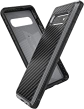 X-Doria Defense Lux, Samsung Galaxy S10 Phone Case - Military Grade Drop Tested, Anodized Aluminum, TPU, and Polycarbonate Protective Case for Samsung Galaxy S10 (Black Carbon Fiber)