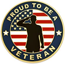 PinMart Made in USA Veteran American Flag Enamel Lapel Pin