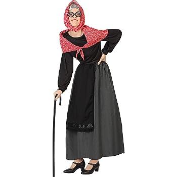 Atosa-26898 Disfraz Vieja Mujer Adulto-Talla, color negro, XS-S ...