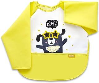 Babyjem Poly Bib Sleeved, Yellow - BJ10346