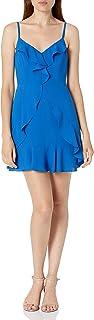 Women's Ruffled, Sleeveless Mini Dress