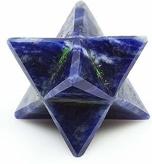 Harmonize Aventurine Bleu 8 Points Merkaba Étoiles Chakra Sacré Équilibre Cristal Reiki De Guérison