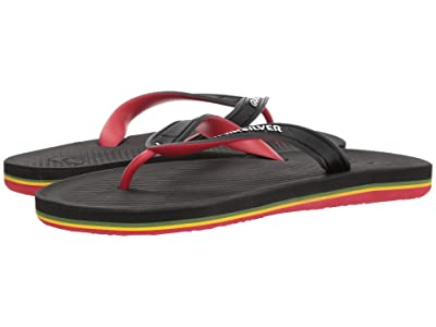 Quiksilver Haleiwa II (Black/Red/Green) Men