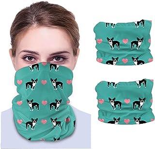 Turkos kärlek hjärtan söt hund sömlös ansiktsmask bandanas halsdamask för män och kvinnor