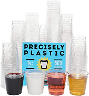 500 Shot Glasses Premium 3oz Clear Plastic Disposable Cups, Perfect Container for Jello Shots, Condiments, Tasting, Sauce, Dipping, Samples