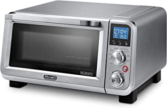 De'Longhi EO141150M Livenza Compact 1800W Countertop Convection Toaster Oven, 9 Presets Roast, Broil, Bake, Easy to Use, 14L (.5 cu ft), Stainless Steel