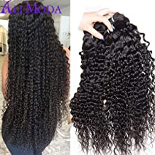 Malaysian Deep Wave Curly Virgin hair 4 Bundles Wet and Wavy 100% Unprocessed Human Hair Weave Weft Extensions 95-105g/pc Natural Black Color 22 24 26 28 inch