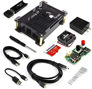 Freenove Starter Kit for Raspberry Pi 4 B, Acrylic Protective Case, Adjustable Cooling Fan, 3A Power Supply with Switch, 3...