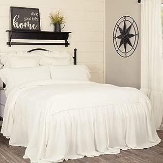 king size ruffled bedspread