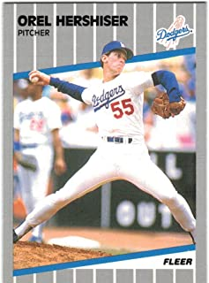 1989 Fleer with Update Los Angeles Dodgers (1988 WS Champs) Team Set with Orel Hershiser & Kirk Gibson - 30 MLB Cards