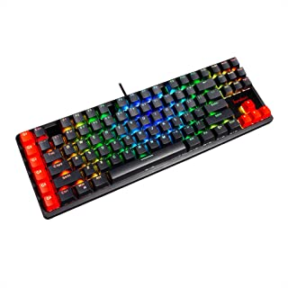 ゲーミングキーボード LEDバックライト RGB 有線 usb キーボード 赤軸 メカニカルキーボード 角度調節可能 1年間品質保証 beri93