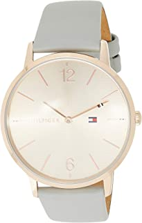 Tommy Hilfiger 1781975 Womens Quartz Watch, Analog Display and Leather Strap, Rose Gold