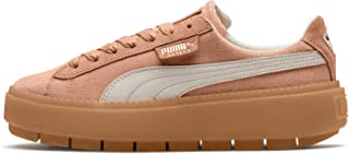 PUMA Womens Dusty Coral Corduroy Trace Platform Trainers