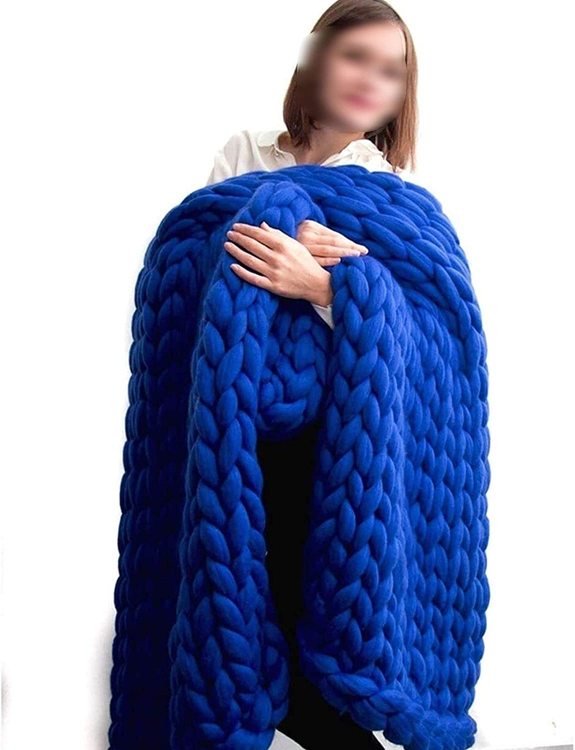 Super sale YXYH Chunky Knit Throw Directly managed store Blanket - Warm Large Knitt Handmade Cable