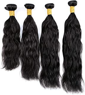 Natural Wave 8A 4 Bundles Deal Real Virgin Raw Curly Human Hair Unprocessed Weave 400g (20 22 24 26 Inch)