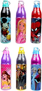 Perpetual Bliss (Pack of 6) Fancy Durable Insulated Disney Theme Water Bottle / Return Gift for Kids Birthday Party