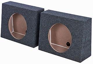"QPower QTW10 Single 10"" Sealed Car Audio Subwoofer Sub Box Enclosures (2 Pack) photo"