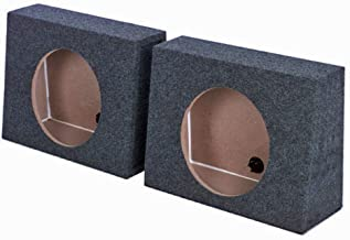 "QPower QTW10 Single 10"" Sealed Car Audio Subwoofer Sub Box Enclosures (2 Pack)"