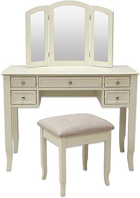 Super Amazon Com Bobkona F4186 Vanity Table With Stool Set Rose Spiritservingveterans Wood Chair Design Ideas Spiritservingveteransorg