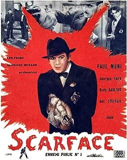 Posterazzi Scarface Paul Muni 1932. Movie Masterprint Poster Print, (11 x 17)