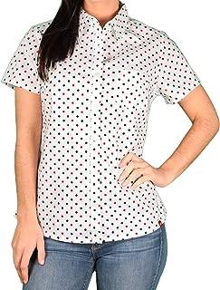 Women's Short Sleeve Poplin Plaid Shirt