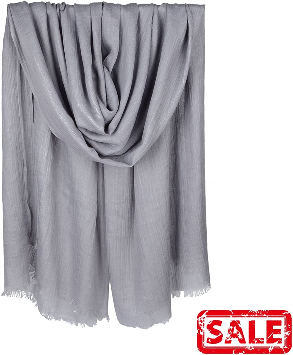 Iristide Womens Long Scarf in Solid color Light Weight Large Shawls Wrap 75x43in