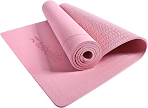1/4-Inch Thick Yoga Mat - Eco Friendly TPE with Carrying Strap, Yoga Mat Non Slip, 72x24 Inches for Pilates Fitness Floor ...