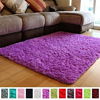PAGISOFE Soft Fuzzy Purple Area Rugs for Kids Room Girls...