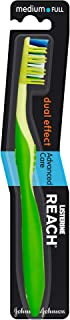 REACH Toothbrush, Dual Effect, Advanced Care, Medium Full, Assorted Colours, 1 piece