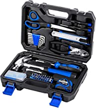 49-Piece Portable Tool Kit, PROSTORMER General Household Hand Tool Set with Tool Box Storage Case - Great Gift for Beginners