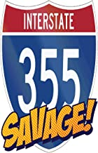 Interstate 355 Savage: 6x9 College Ruled Line Paper 150 Pages