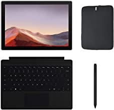 Newest Microsoft Surface Pro 7 12.3 Inch Touchscreen Tablet PC Bundle w/Type Cover, Pen & WOOV Sleeve, Intel 10th Gen Core...