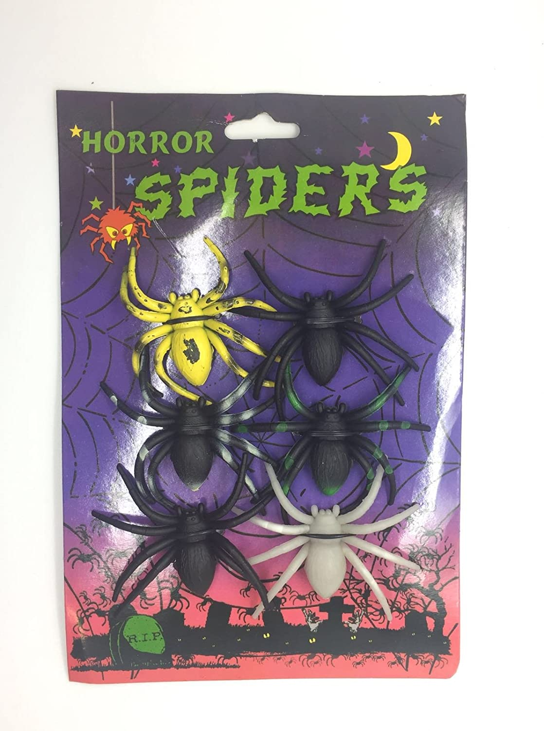 BUNDLE OFFER PACK OF WEBS AND SPIDERS STRETCHABLE DECORATION HALLOWEEN SCARY UK