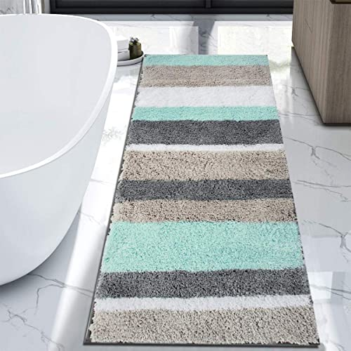HEBE Extra Long Bath Rug Runner for Bathroom Extra Large Non Slip Microfiber Bathroom Mat Rug Runner Machine Washable...