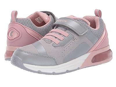 Geox Kids Jr Spaceclub 5 (Little Kid/Big Kid) (Grey/Pink) Girls Shoes