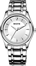 Skone Mens Quartz Simple Silver Casual Fashion Classic Waterproof Watches