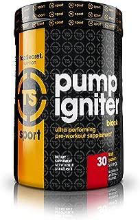 Top Secret Nutrition Pump Igniter Black Pre-Workout Supplement with Beta-Alanine, L-Citrulline, and Hydromax, Net Wt. 0.