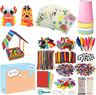 1200pc Arts and Crafts Supplies for Kids Toddler Pack -24 Paper Cups and 24 Stickers, Educational Supplies for Children, S...