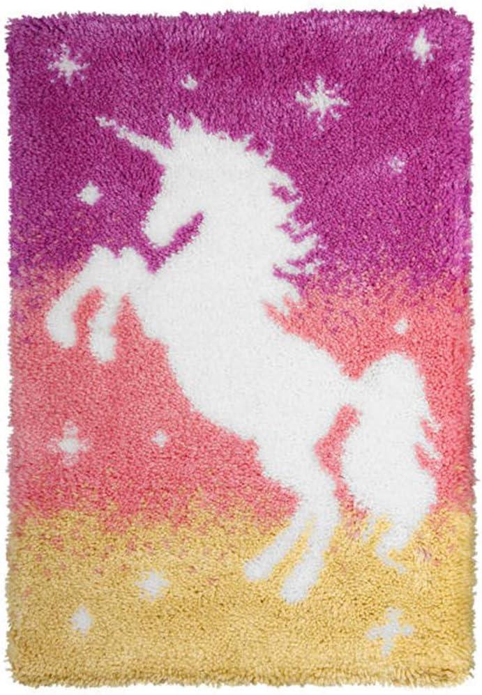 Orchidea Show Details Latch Hook Kit: x Los Angeles Mall Japan Maker New Unicorn 74.5cm 50 Rug:
