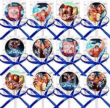 Wreck It Ralph 2 Lollipops Party Favors Supplies Decorations Disney Movie Lollipops w/Royal Blue Ribbon Bows -12 pcs Ralph Breaks The Internet