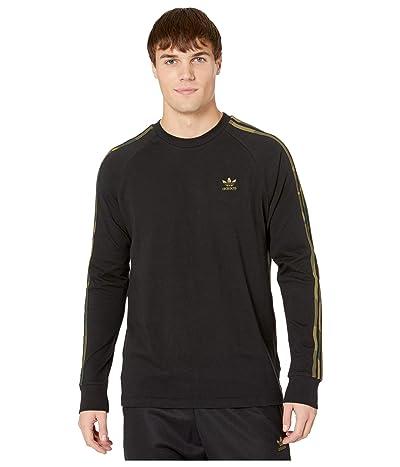 adidas Originals Camo Long Sleeve Tee (Black/Multicolor) Men