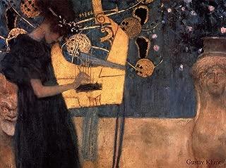 Music, c.1895 by Gustav Klimt Art Print, 43 x 32 inches