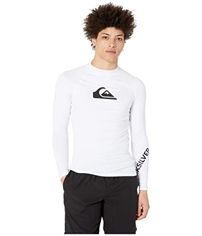 Quiksilver All Time Long Sleeve Rashguard (White) Men