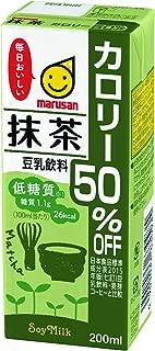 マルサン 豆乳飲料抹茶カロリー50%オフ 200ml×24本