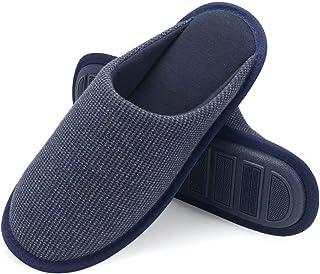 شباشب NineCiFun رجالي من الفوم المتكيّف لغرفة النوم داخل المنزل أحذية لطيفة مع نعل غير قابل للانزلاق
