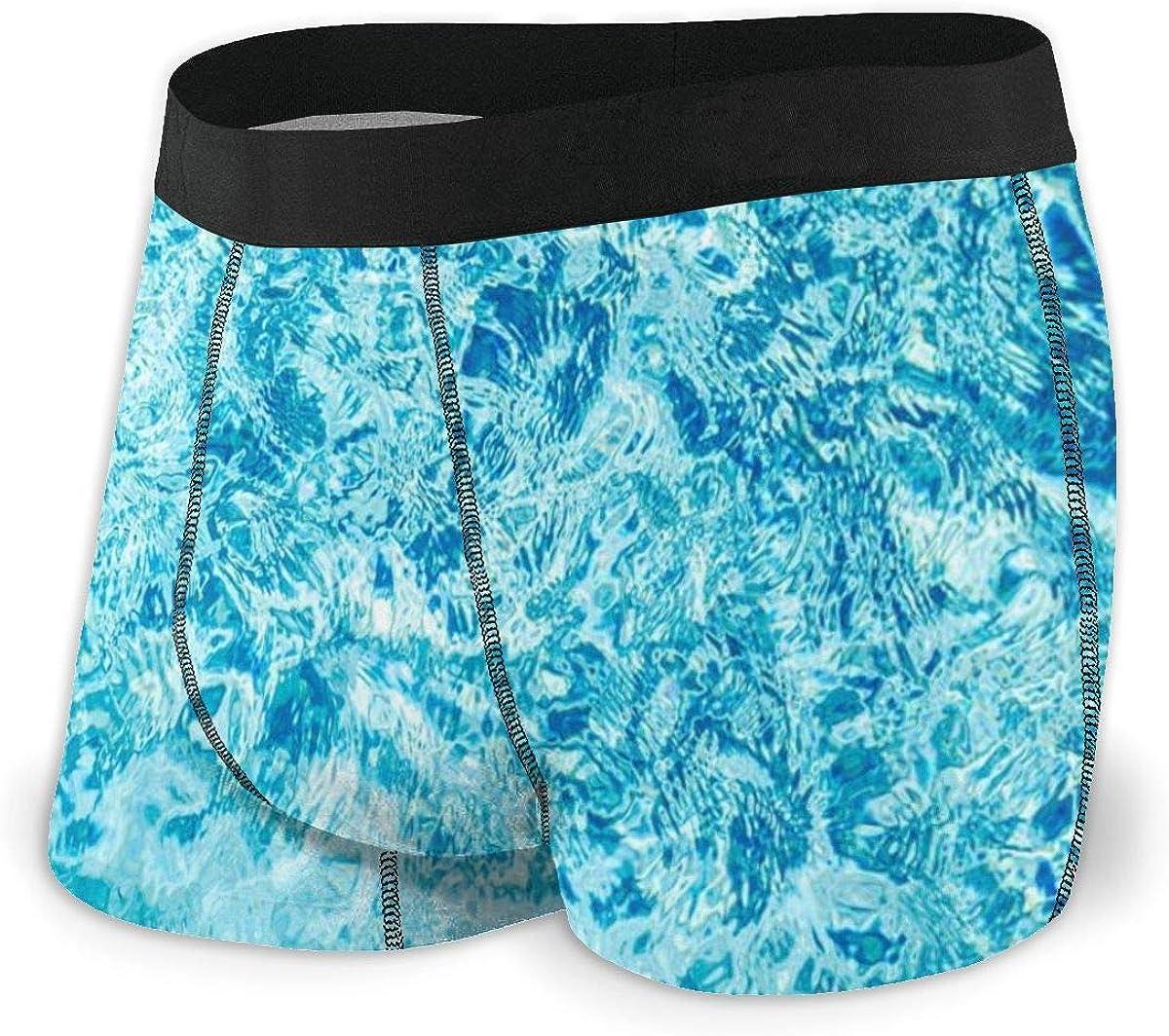 Mens Boxer Briefs Turquoise Sea Ocean Wave Blue Breathable Underwear