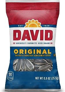 DAVID SEEDS Roasted and Salted Original Sunflower Seeds, 0.9 oz, 324 Count