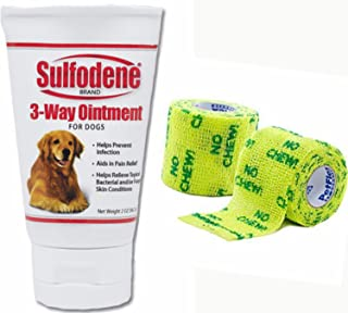 Sulfodene 3-Way Ointment For Dogs- Plus 2 Packs PetFlex 2