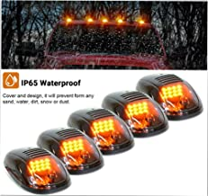 5pcs Amber 12 LED Smoke Cab Roof Top Running Marker Lights lamp for 2003-2016 Dodge Ram