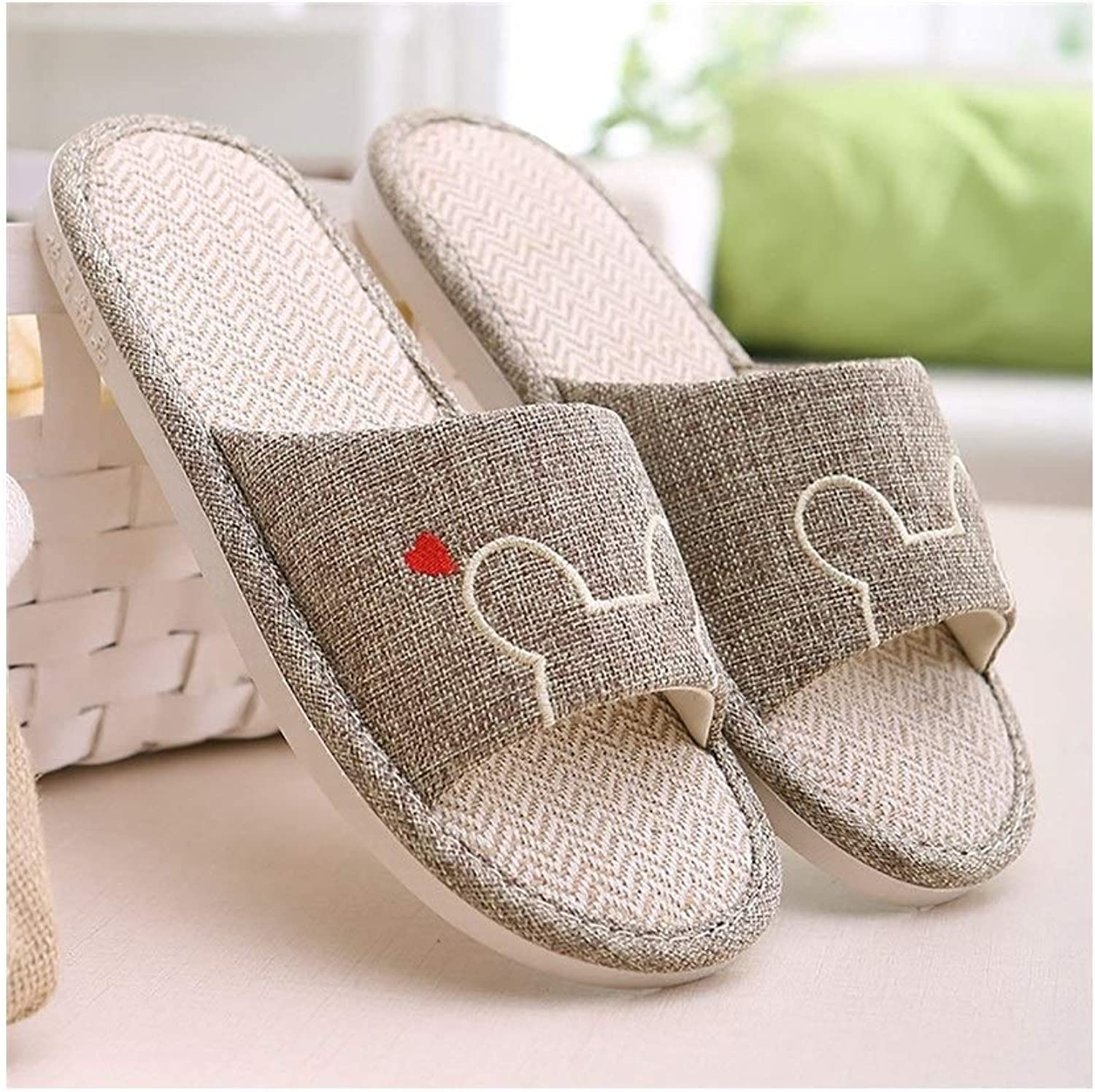 DYFYMX Open Slippers, Spring and Autumn Seasons Indoor Non-Slip Couple Models Carpet Slippers, Ladies, Men. Fashion B, Size   25-25.5cm